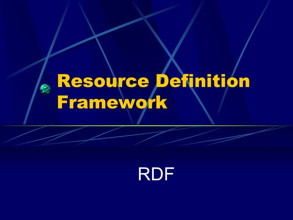 Resource Definition Framework RDF