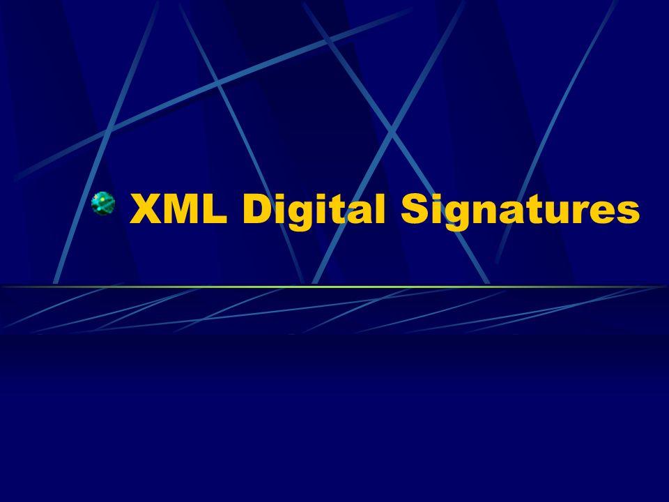 XML Digital Signatures
