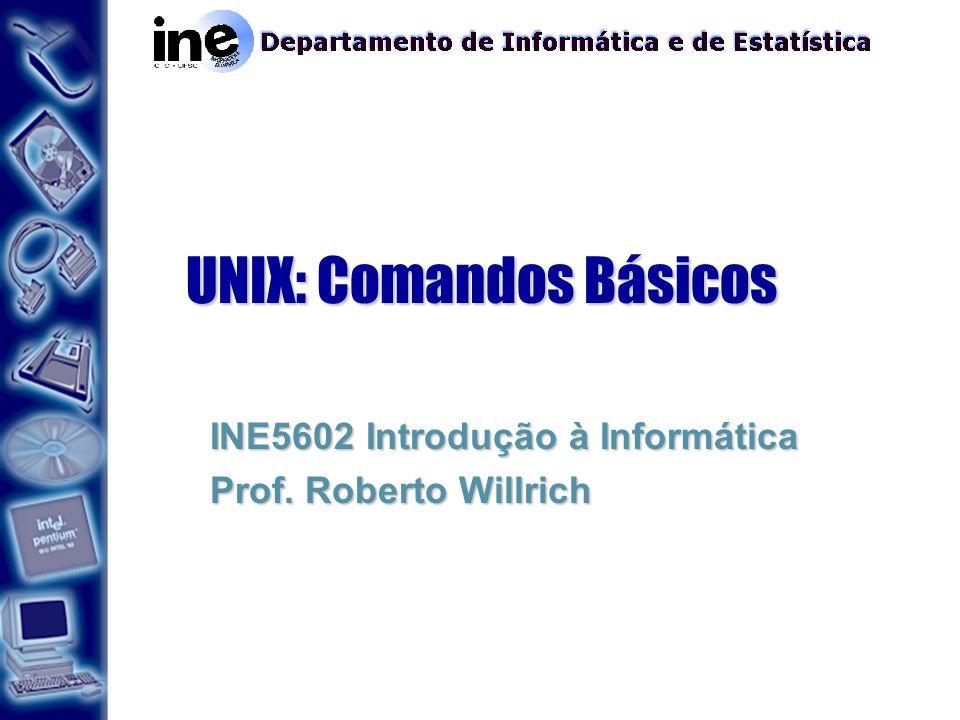 UNIX: Comandos Básicos INE5602 Introdução à Informática Prof. Roberto Willrich