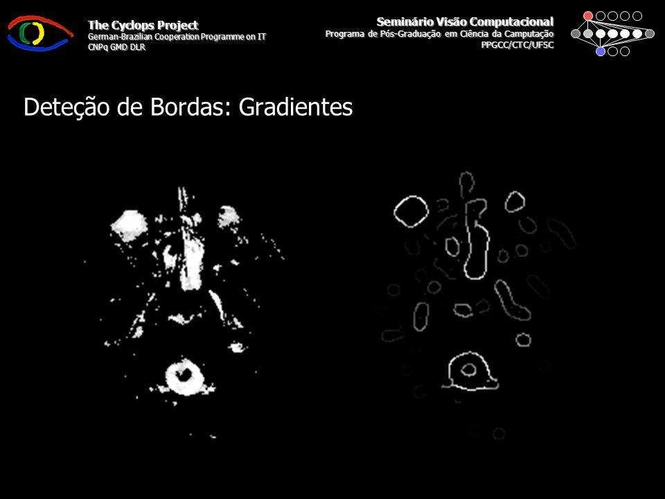 The Cyclops Project German-Brazilian Cooperation Programme on IT CNPq GMD DLR Domínio do Espaço Detecção de Bordas, Segmentações e Morfologia