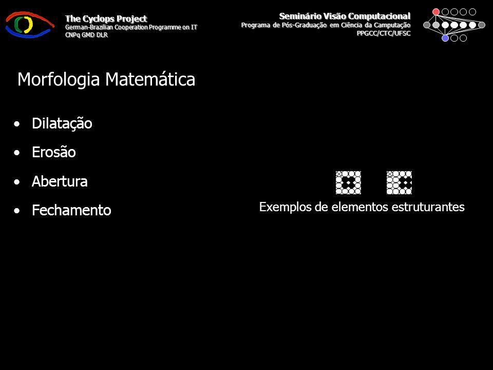 Seminário Visão Computacional Programa de Pós-Graduação em Ciência da Camputação PPGCC/CTC/UFSC The Cyclops Project German-Brazilian Cooperation Programme on IT CNPq GMD DLR Deteção de Bordas