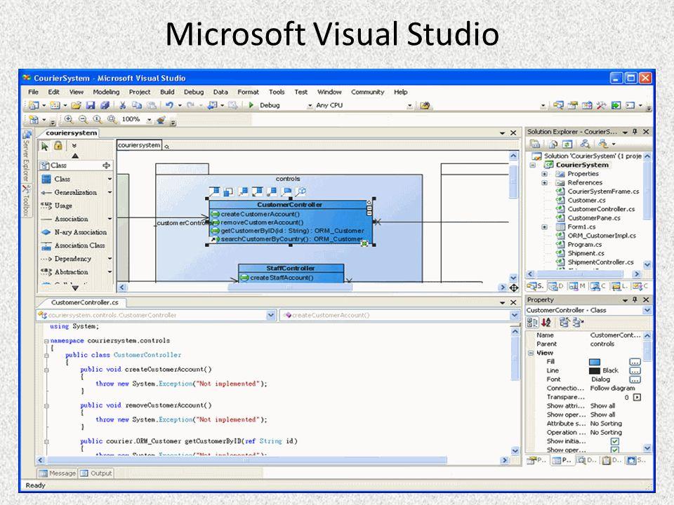 C# e.NET C# é considerada a linguagem símbolo do.NET da Microsoft Foi criada praticamente do zero, sem preocupações de compatibilidade com código legado Seu compilador foi o primeiro a ser desenvolvido A maior parte das classes do.NET Framework foram desenvolvidas em C# C# não possui em nenhuma implementação, qualquer conjunto de bibliotecas.