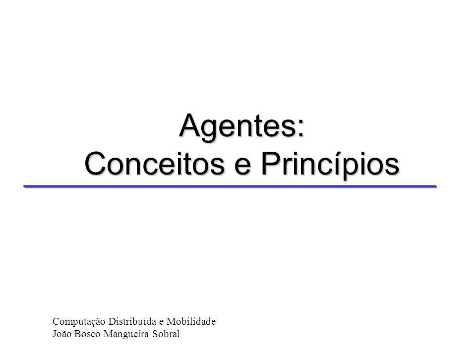 Agentes: Conceitos e Princípios Computação Distribuída e Mobilidade João Bosco Mangueira Sobral
