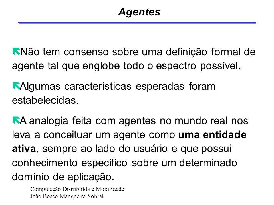 Agentes de Software Computação Distribuída e Mobilidade João Bosco Mangueira Sobral