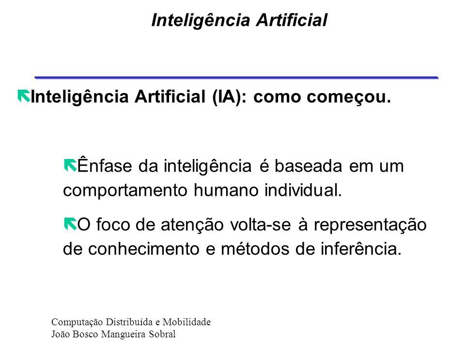 Inteligência Artificial ë Inteligência Artificial (IA): como começou.