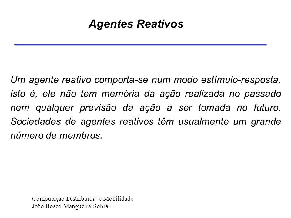 Reatividade O agente deve ter sensores e possuir seu próprio modelo interno de seu ambiente (do qual ele pode tirar conclusões por ele próprio) no sen