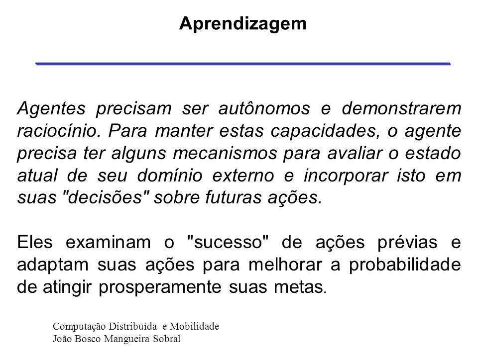 Raciocínio e Aprendizado A inteligência de um agente é formado de três principais componentes: sua base de conhecimento interna, a capacidade de racio