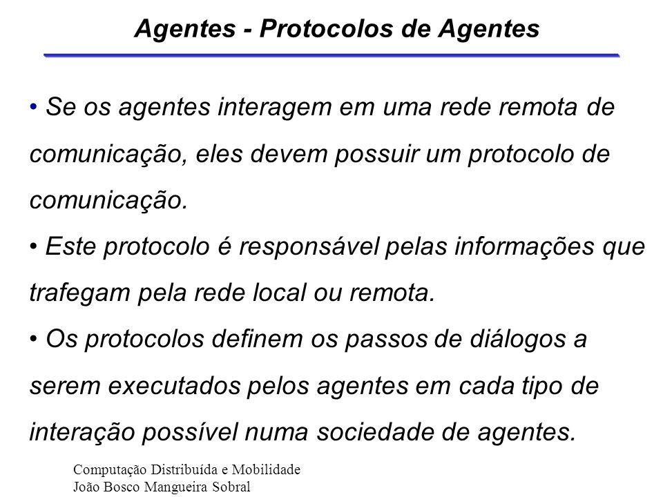 Agentes Inteligentes A mobilidade aparece numa terceira dimensão (agente é projetado para atuar em uma rede). Mobilidade é o grau para o qual agentes