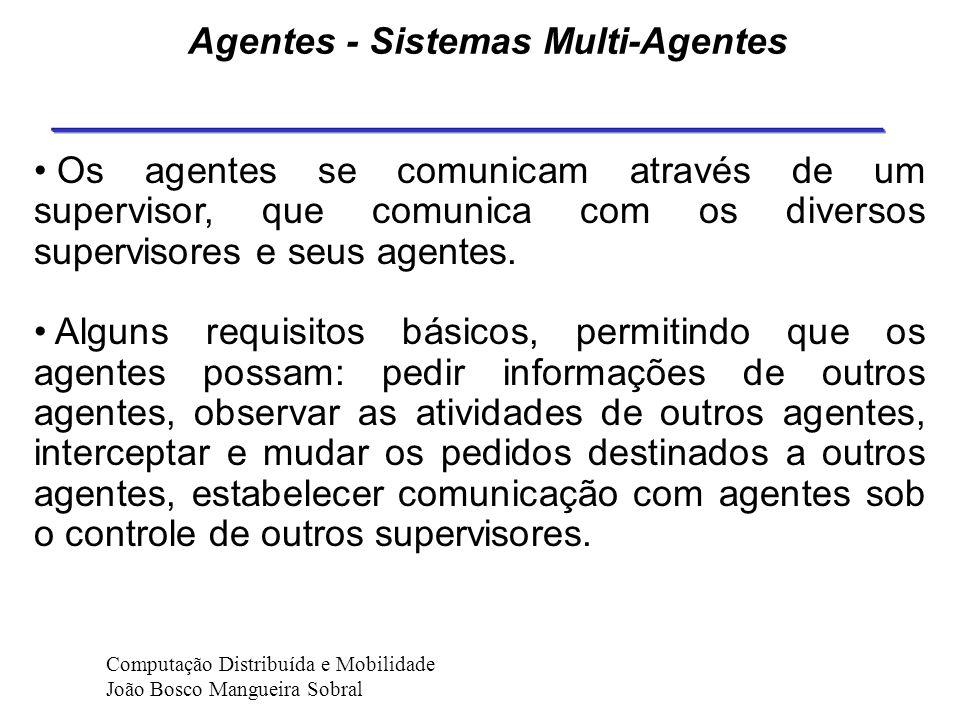 Agentes - Sistemas Multi-Agentes Como os agentes devem ser organizados para conseguirem colaborar entre si ? Duas abordagens diferentes tem sido explo