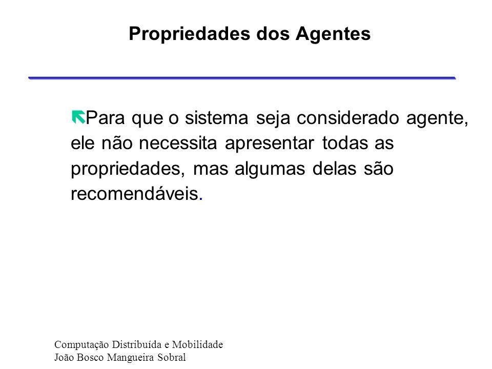 Agentes - Tipos de Agentes Representante: trabalha na ausência do usuário, parecido ao agente Empregado. Por exemplo, pode fazer backups de arquivos d