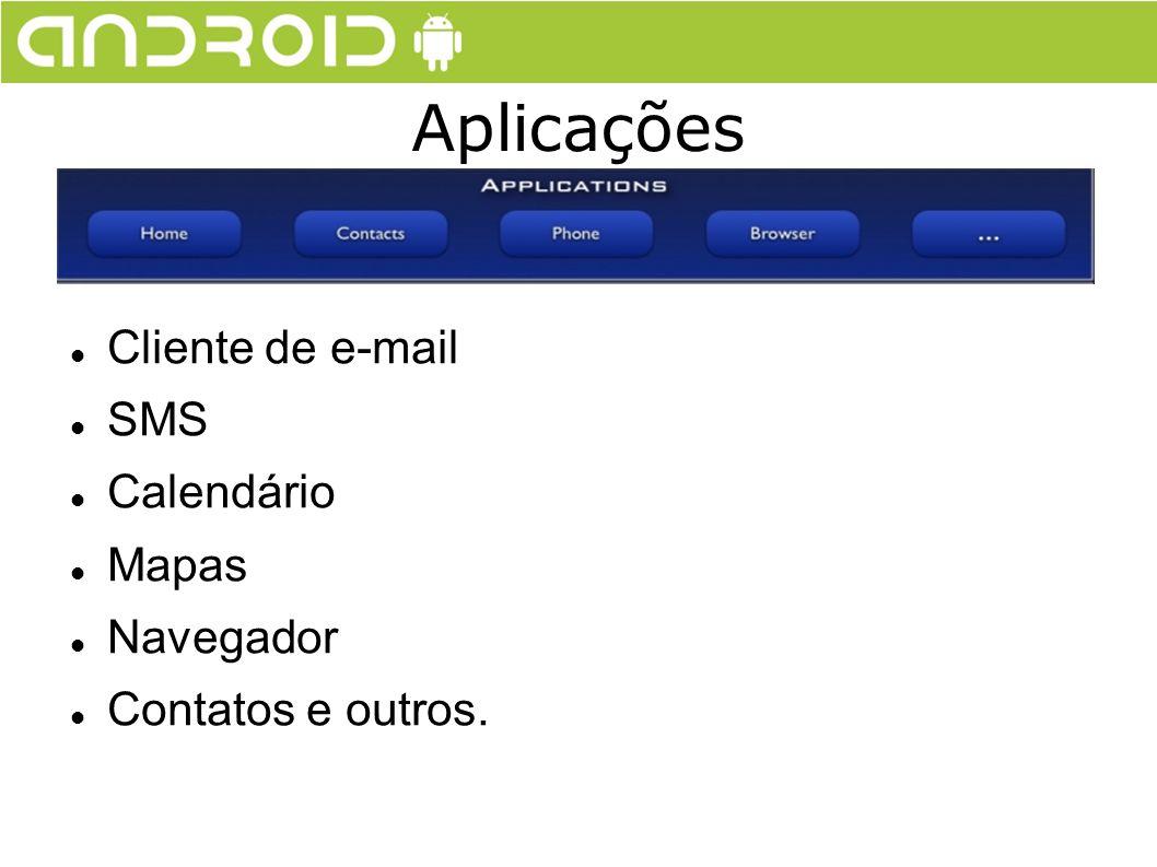 Cliente de e-mail SMS Calendário Mapas Navegador Contatos e outros. Aplicações