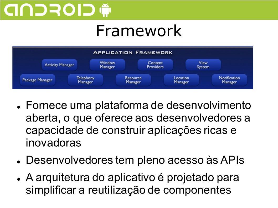 Fornece uma plataforma de desenvolvimento aberta, o que oferece aos desenvolvedores a capacidade de construir aplicações ricas e inovadoras Desenvolve