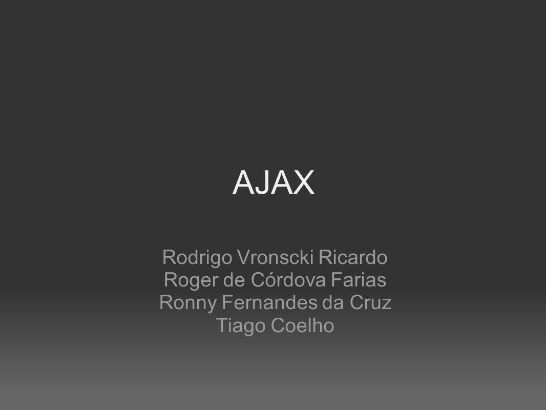AJAX Rodrigo Vronscki Ricardo Roger de Córdova Farias Ronny Fernandes da Cruz Tiago Coelho