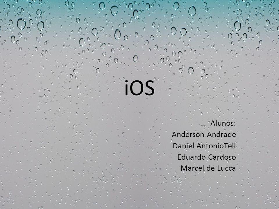 iOS Alunos: Anderson Andrade Daniel AntonioTell Eduardo Cardoso Marcel de Lucca
