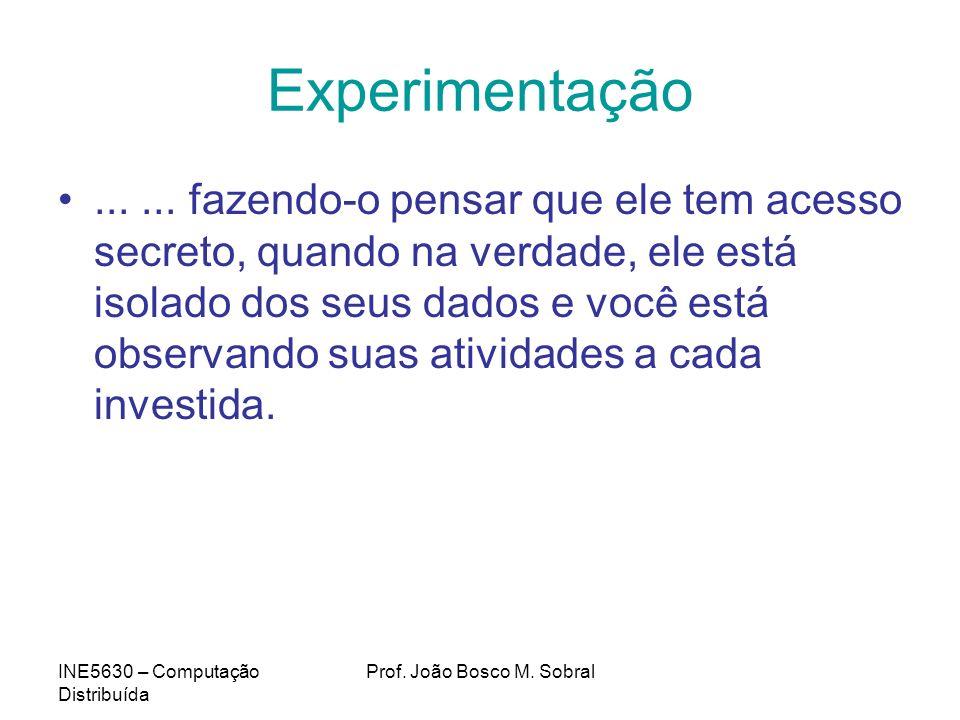 INE5630 – Computação Distribuída Prof.João Bosco M.
