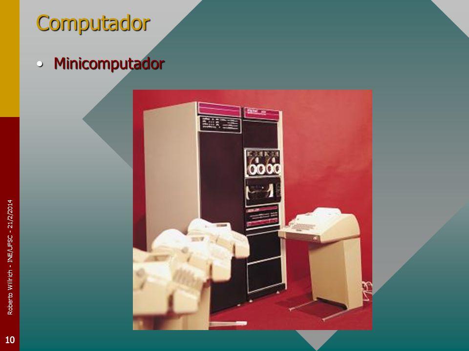 Roberto Willrich - INE/UFSC - 21/2/2014 10 Computador MinicomputadorMinicomputador