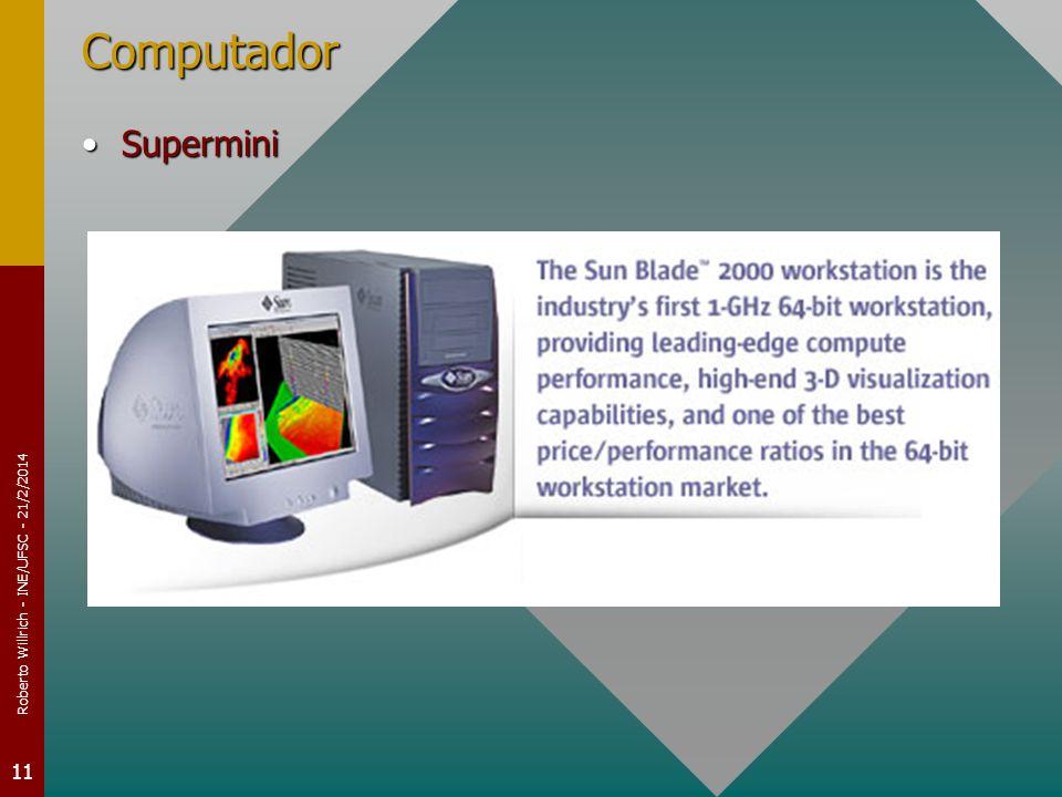 Roberto Willrich - INE/UFSC - 21/2/2014 11 Computador SuperminiSupermini