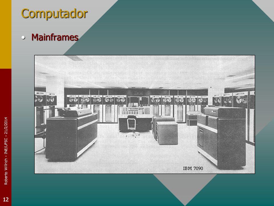 Roberto Willrich - INE/UFSC - 21/2/2014 12 Computador MainframesMainframes