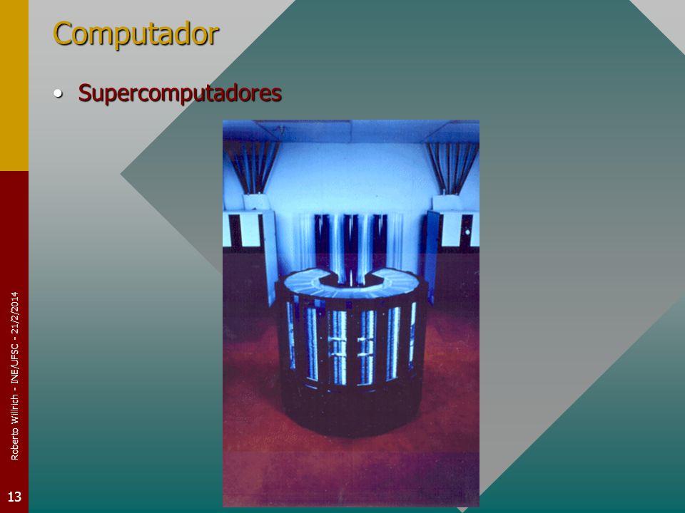 Roberto Willrich - INE/UFSC - 21/2/2014 13 Computador SupercomputadoresSupercomputadores