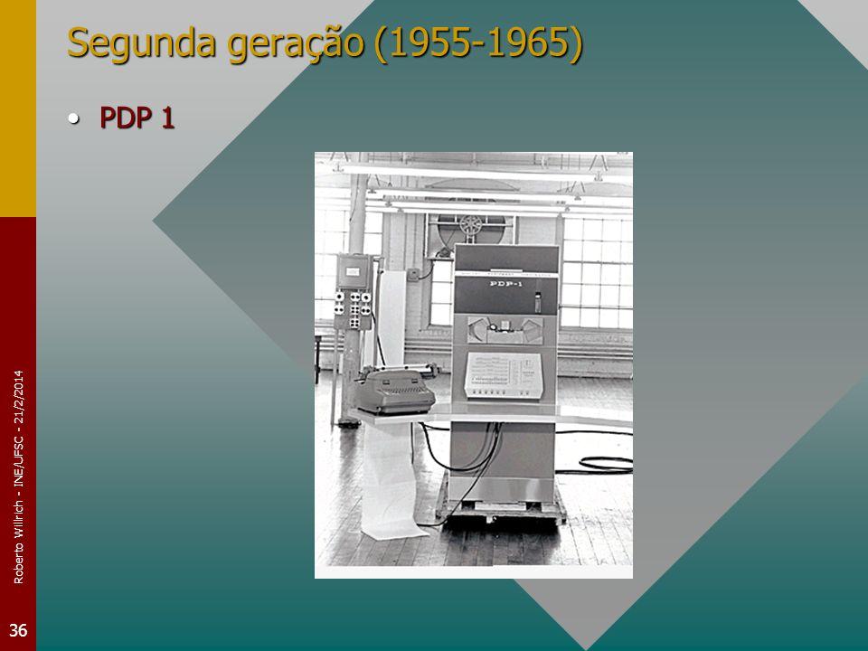 Roberto Willrich - INE/UFSC - 21/2/2014 36 Segunda geração (1955-1965) PDP 1PDP 1