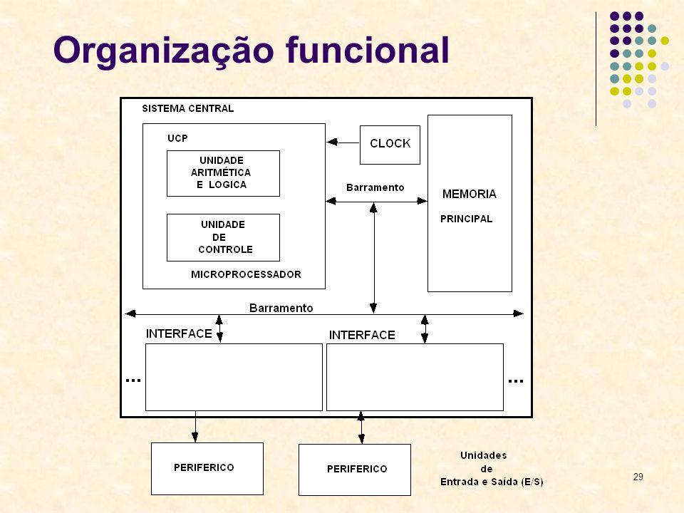 29 Organização funcional
