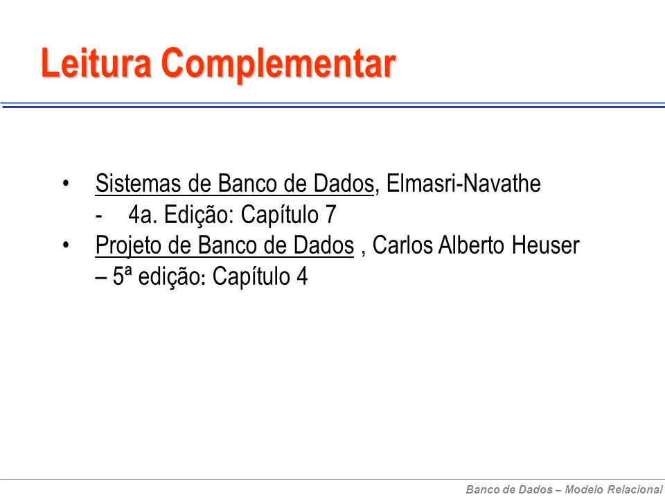 Sistemas de Banco de Dados, Elmasri-Navathe -4a.