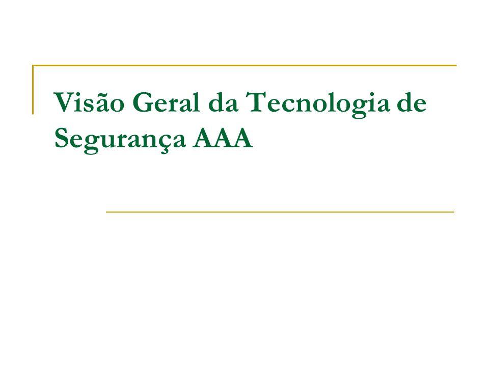 Visão Geral da Tecnologia de Segurança AAA