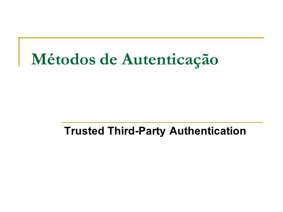 Métodos de Autenticação Trusted Third-Party Authentication