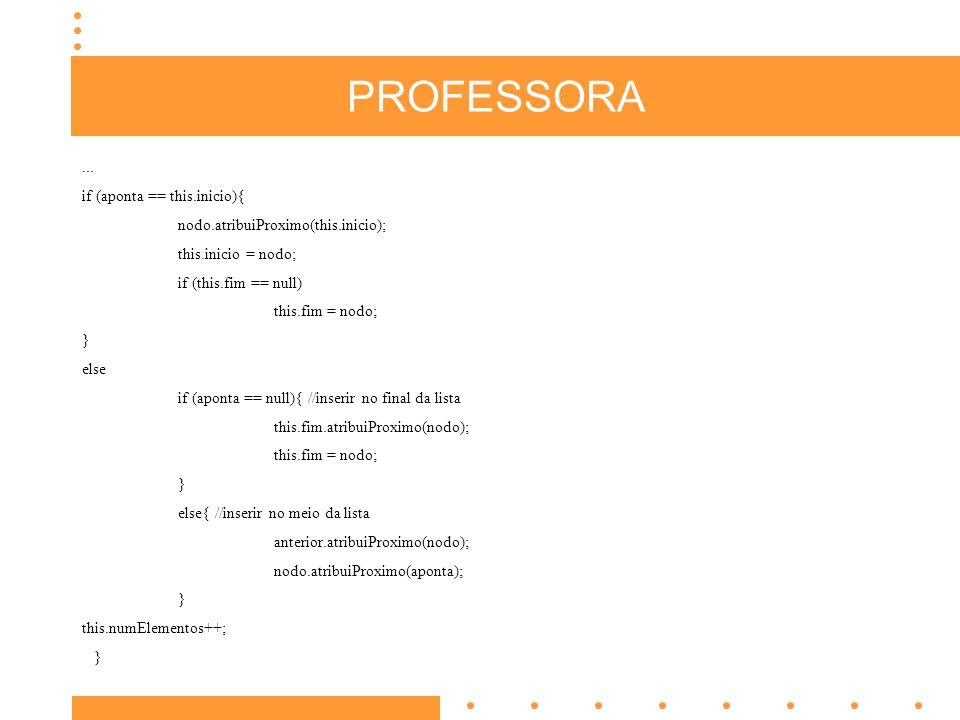PROFESSORA...