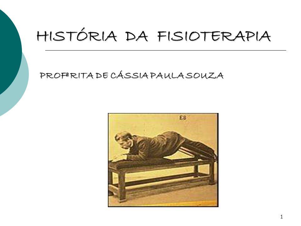 22 HISTÓRIA DA FISIOTERAPIA NO BRASIL 1950: PORTARIA DO MS REGULAMENTA A PROFISSÃO DE MASSAGISTA: MASSAGISTA: que freqüentaram cursos regulares, como os existentes na Escola Nacional de Educação Física e Desportos da Universidade do Brasil; MASSAGISTA PRÁTICO: que não eram oriundos de escolas regulares, mas, faziam cursos livres, tendo, porém, que se submeterem as provas teóricas e práticas que eram realizadas 2 vezes por ano, no Serviço Nacional de Fiscalização de Medicina e Farmácia.