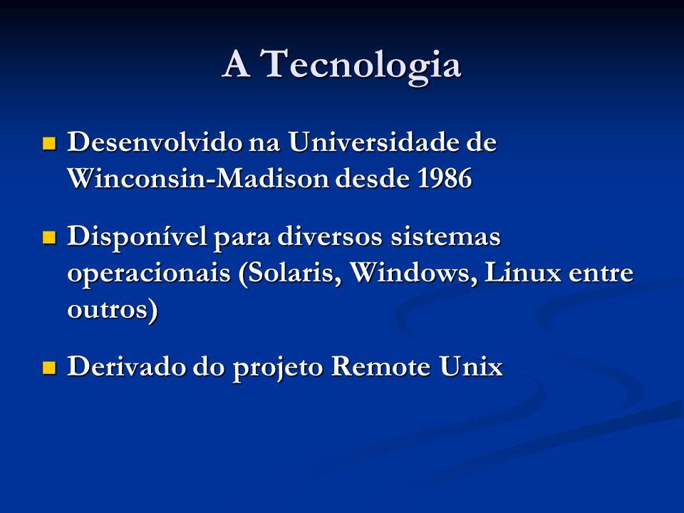 A Tecnologia Desenvolvido na Universidade de Winconsin-Madison desde 1986 Desenvolvido na Universidade de Winconsin-Madison desde 1986 Disponível para
