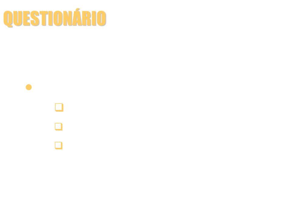 QUESTIONÁRIO A disposição das perguntas precisa seguir uma progressão lógica para que o informante: tenha interesse em responder, sendo as perguntas atraentes e não controvertidas; responda os itens mais fáceis para os mais complexos; seja levado gradativamente de um quadro de referência a outro; não seja influenciado pelo conteúdo das perguntas anteriores.