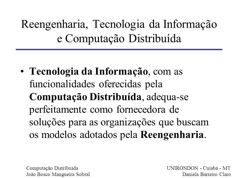 Reengenharia, Tecnologia da Informação e Computação Distribuída Tecnologia da Informação, com as funcionalidades oferecidas pela Computação Distribuíd