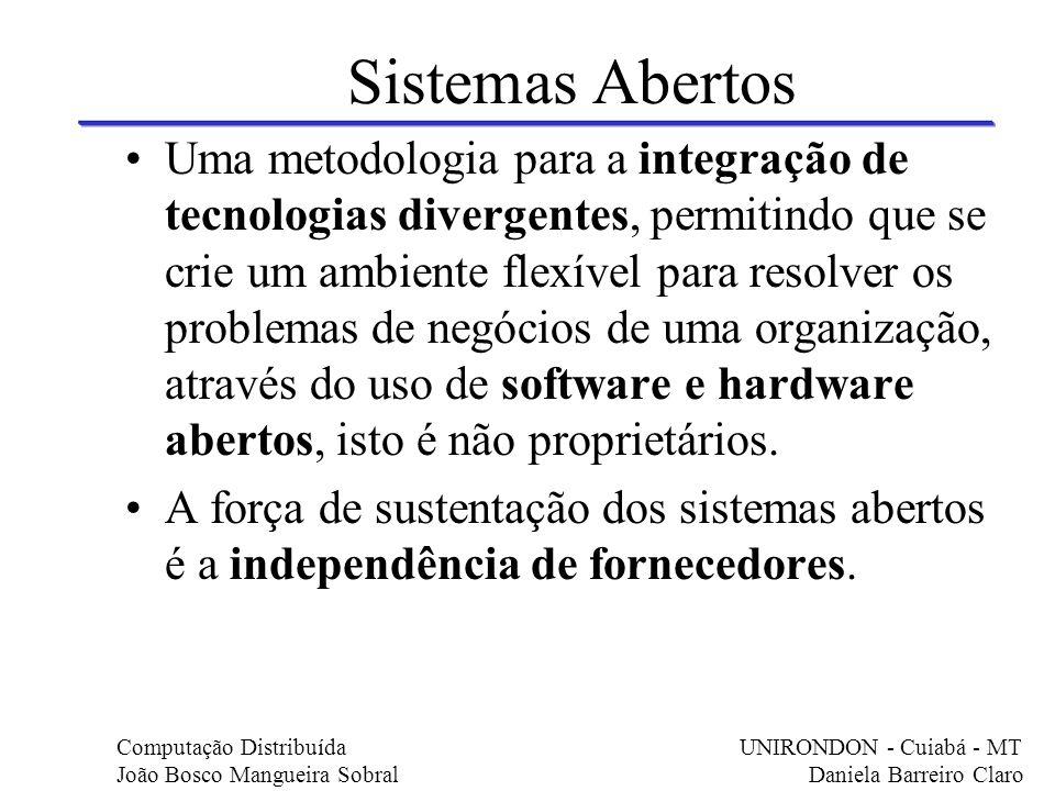 Sistemas Abertos Uma metodologia para a integração de tecnologias divergentes, permitindo que se crie um ambiente flexível para resolver os problemas