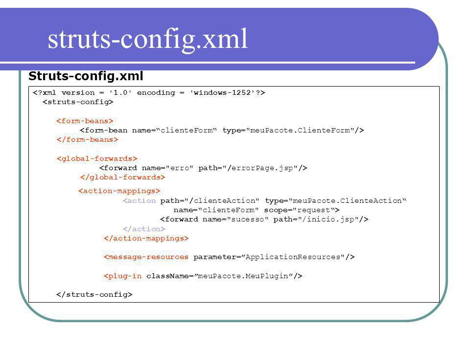 Struts-config.xml struts-config.xml