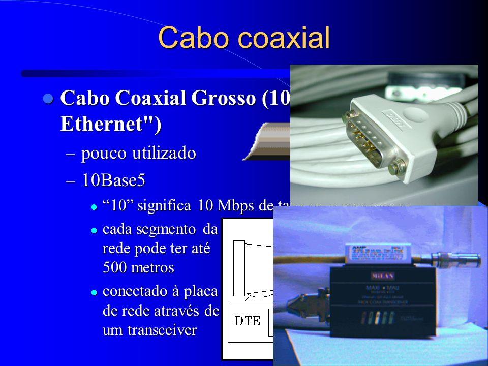 12 Cabo coaxial Cabo Coaxial Grosso (10Base5 ou