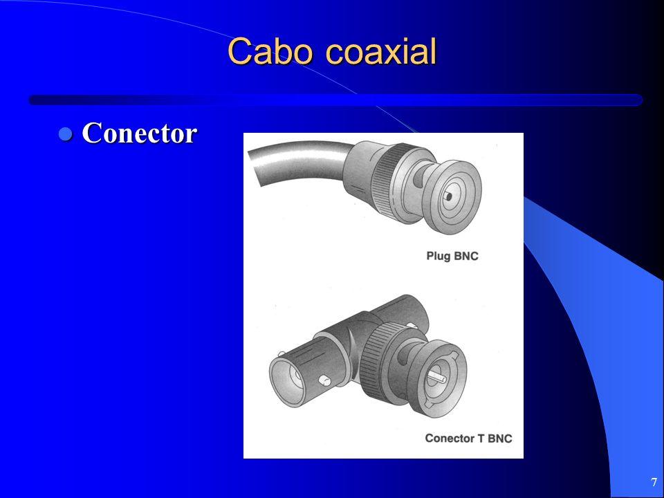 7 Cabo coaxial Conector Conector