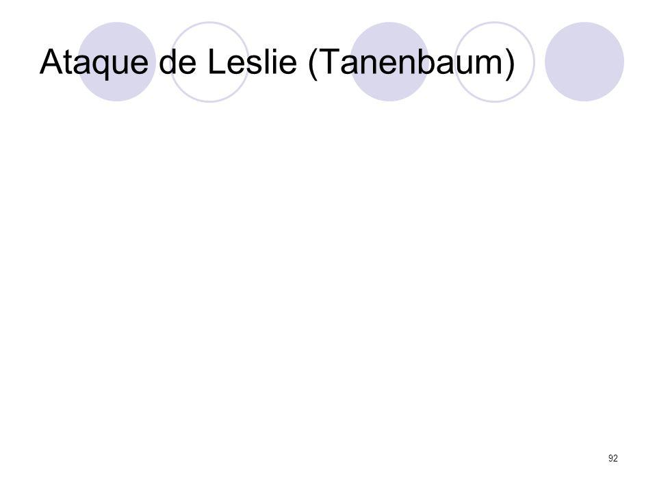 Ataque de Leslie (Tanenbaum) 92