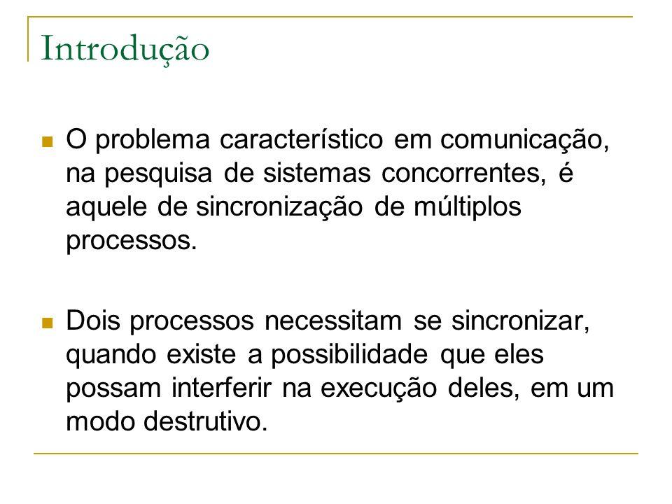 Introdução Exemplo clássico: atualização perdida (lost update) Neste cenário, temos dois processos: P1 e P2.