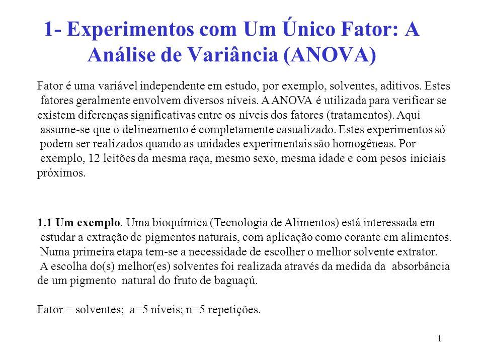 62 O novo quadro da ANOVA fica: Observamos que o efeito quadrático foi significativo, o efeito cúbico e 4.