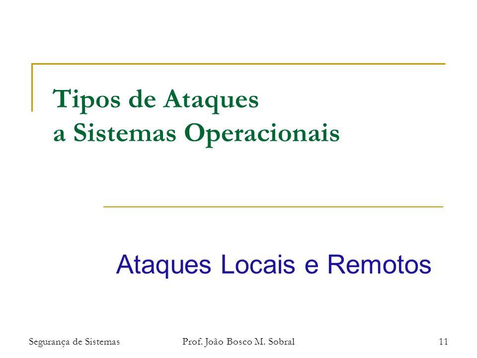 Segurança de SistemasProf. João Bosco M.