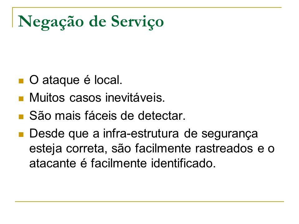 Negação de Serviço (Ataque Remoto) Lado do Cliente Baseado em Serviço Direcionada a Sistema