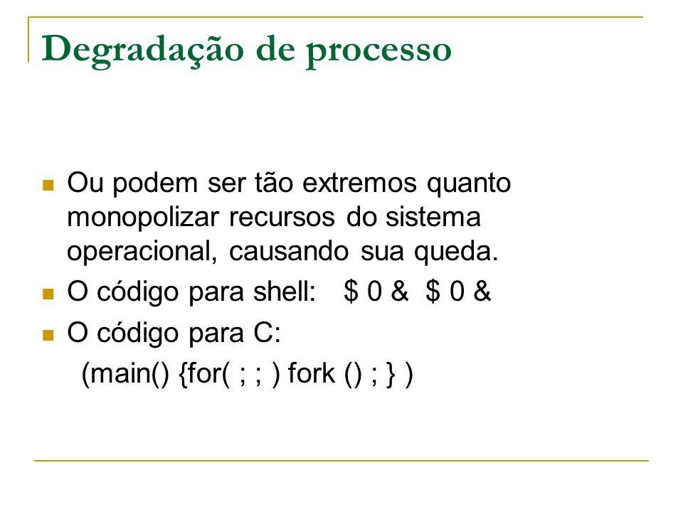 Esgotamento de inode Quando um sistema de arquivos é formatado, um número finito de inodes é criado para manipular a indexação dos arquivos.