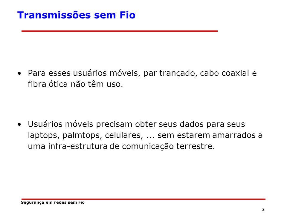 62 OFDM OFDM é um caso particular de FDM.