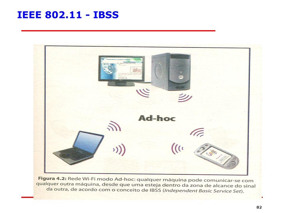 81 Segurança em redes sem Fio Infrared Tecnologia Antiquada Características: –Até 3 Metros usando Line of Sight(LOS) –Taxa de transmissão: 500 Kbps –Banda Dedicada Organização: –http://www.IrDA.orghttp://www.IrDA.org