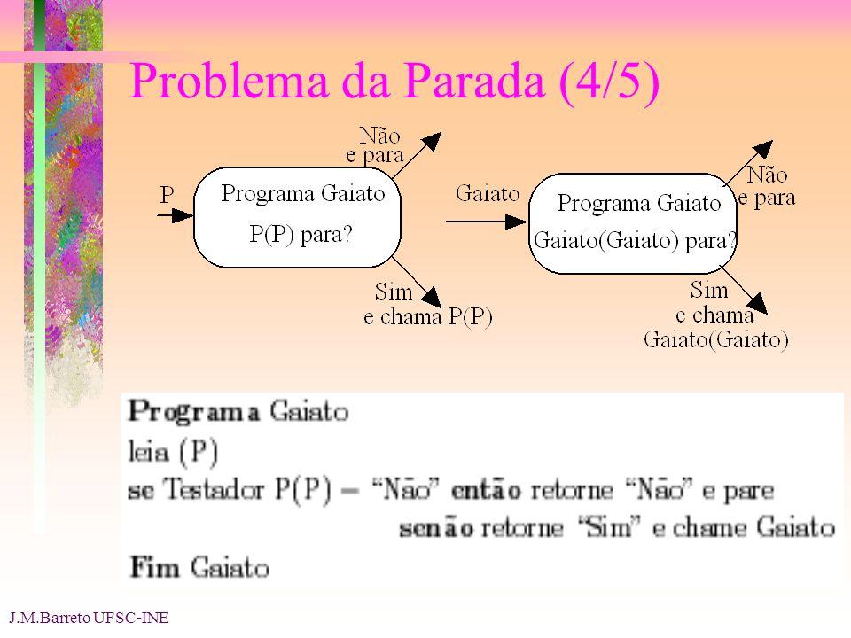 J.M.Barreto UFSC-INE Problema da Parada (4/5)