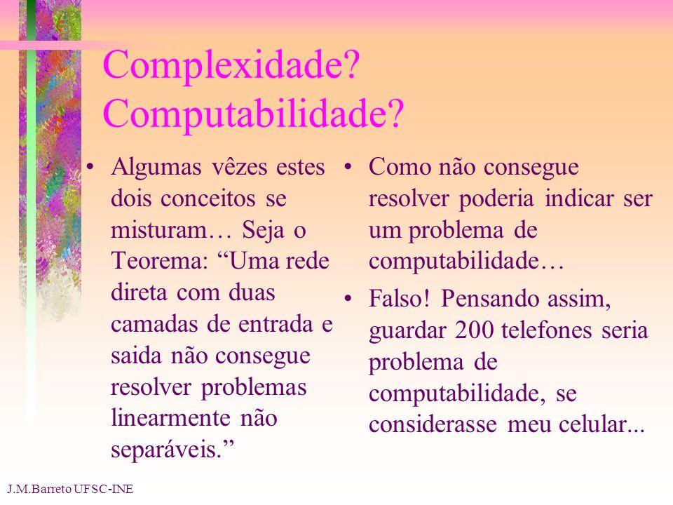 J.M.Barreto UFSC-INE Complexidade. Computabilidade.
