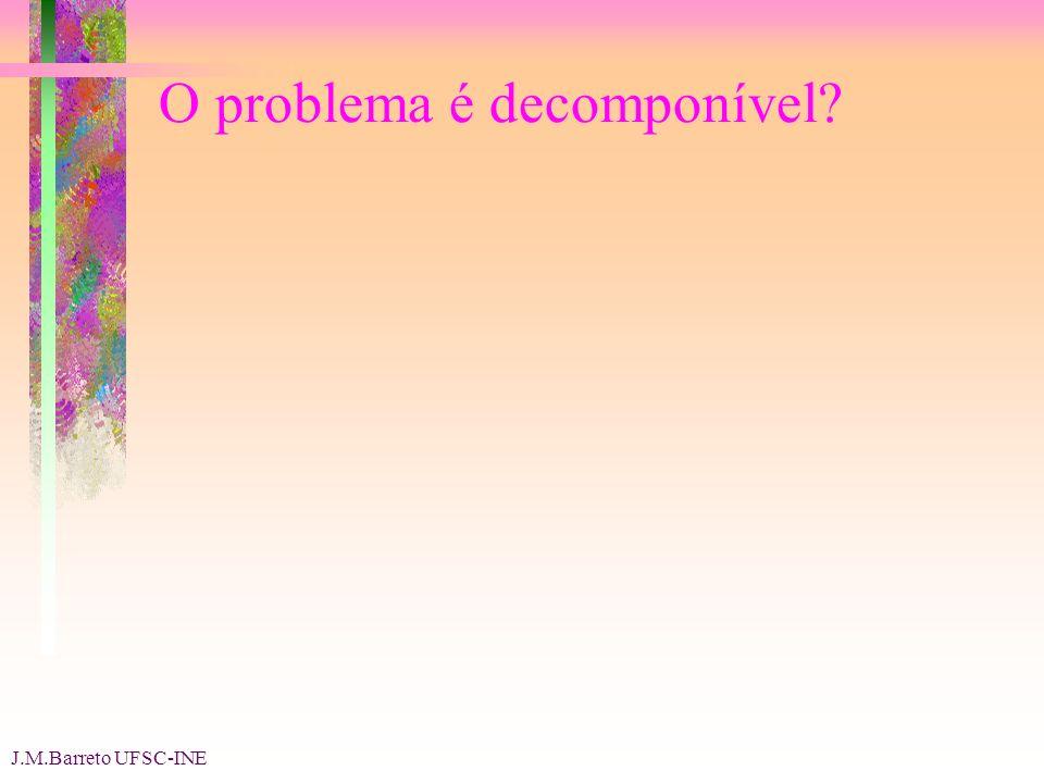J.M.Barreto UFSC-INE O problema é decomponível