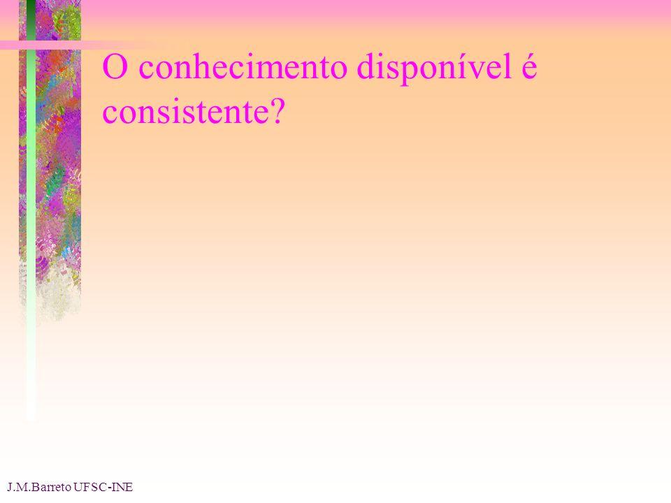 J.M.Barreto UFSC-INE O conhecimento disponível é consistente