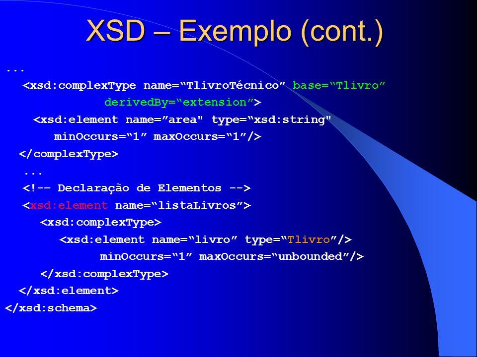 XSD – Exemplo (cont.)...